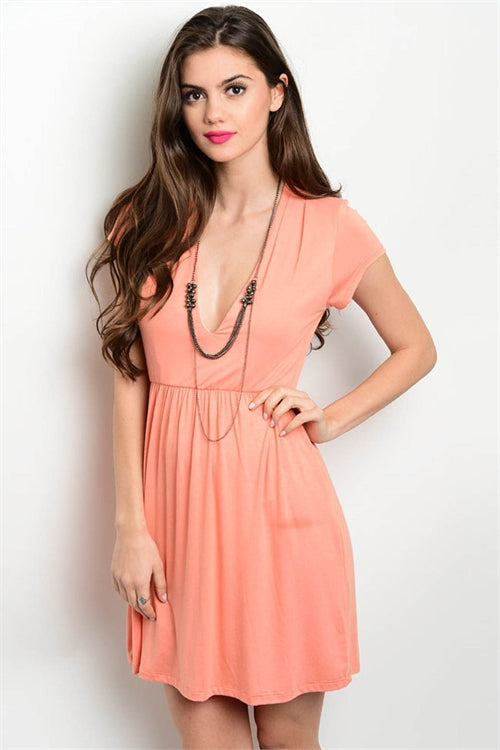 Just Your Basic Peach Dress