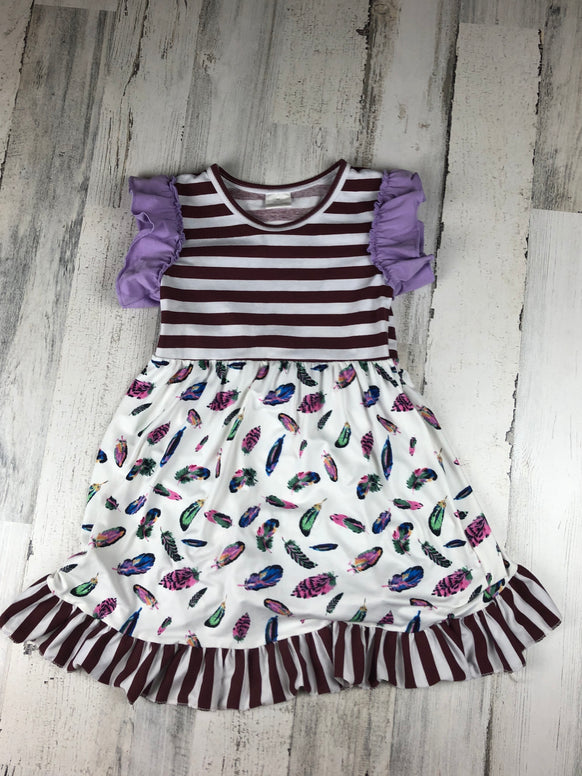 Girls Feather Dress