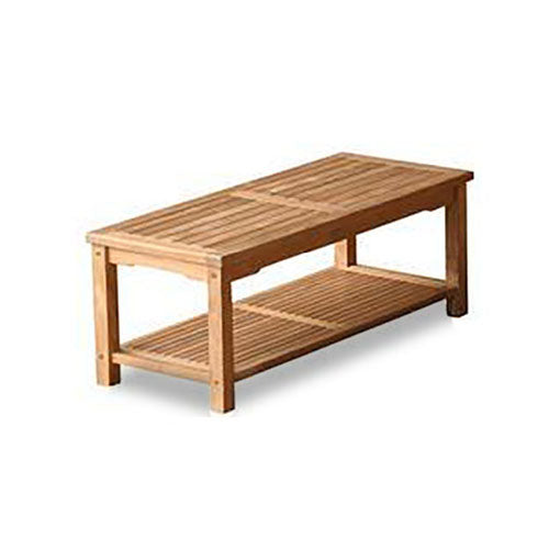 47″ x 20″ Coffee Table w/Rack