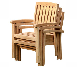 Marley Wide Slat Arm Chair