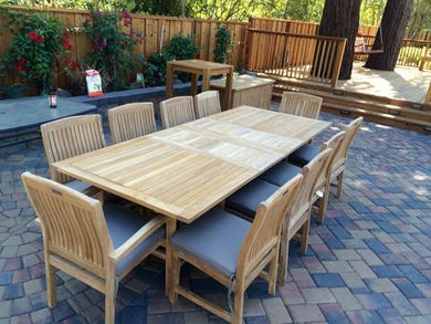 9-Piece Double-Extension Table Dining Set