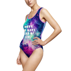 STYLEFOX® Down To Mars Kind of Girl Women's One-Piece Swimsuit - STYLEFOX®