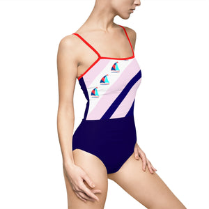 STYLEFOX® Come Sail Away Cutout Back Swimsuit - STYLEFOX®