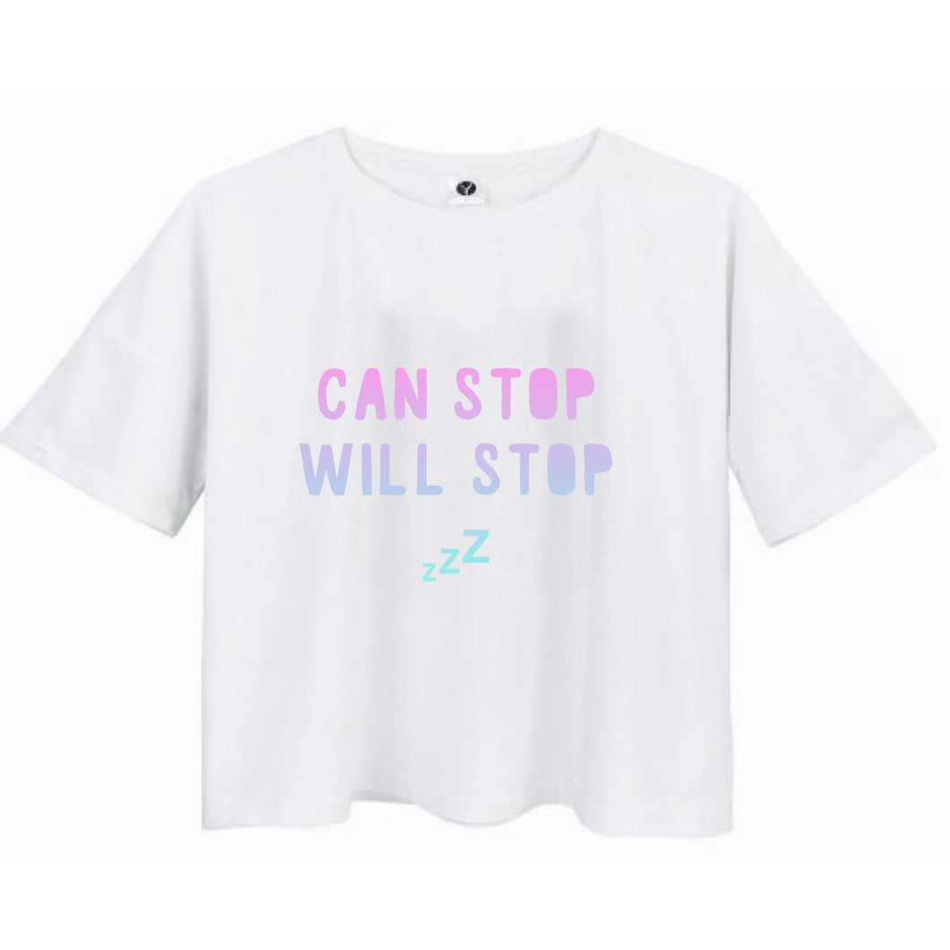 Can Stop Will Stop Cropped Tee - STYLEFOX®