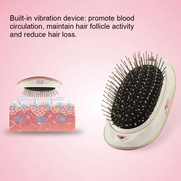 """You Grow Girl"" Ionic Vibrating Hair Stimulating Brush - STYLEFOX®"