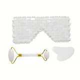 Jade Eye Mask, Gua sha and Roller Set - STYLEFOX®