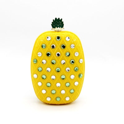 Embellished Pineapple Clutch