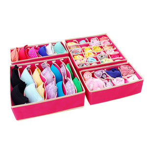 4 Piece Drawer Organizer Set