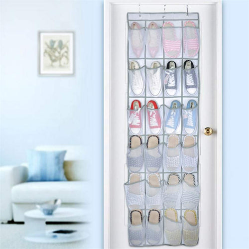 24 Pocket Large Mesh Over the Door Organizer Space Saver Rack