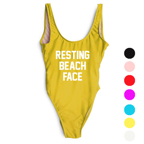 RESTING BEACH FACE Swimsuit - STYLEFOX®