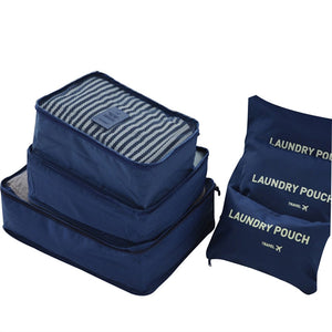 6 Piece Travel Packing Bag Set