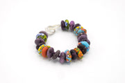 purple, bracelet, colorful beads