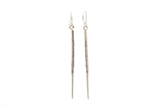 Classic Warrior Earring by Jen Stock in Fine Silver