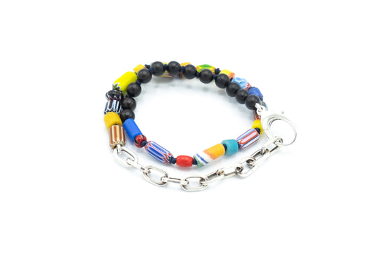 Colorful African Trade Bead Wrap Bracelet / Choker