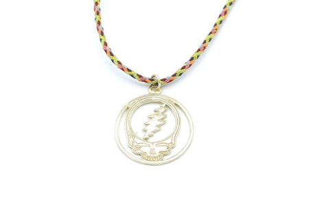 grateful dead steal your face  charm in gold