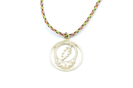 Grateful Dead Jewelry Charm Necklace II Stealie, Jerry Garcia & Cat Under the Stars