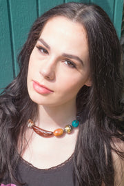 Melting Pot Choker by Jen Stock on model