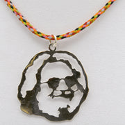 Jen Stock's Jerry Garcia pendant in Sterling Silver