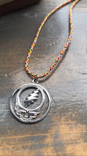 Sterling Silver Steal your Face, Grateful Dead