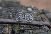 sterling silver, om earrings, closed sale, posts, by jen stock