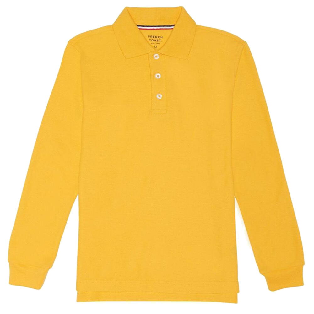 French Toast Boys Long-Sleeve Pique Polo Shirt