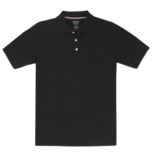 Short Sleeve Pique Polo Shirt  - Boys - Black