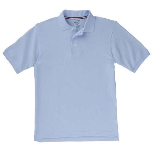 Short Sleeve Pique Polo Shirt  - Boys - Light Blue