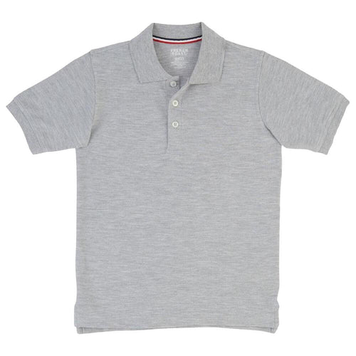 Short Sleeve Pique Polo Shirt  - Boys - Grey