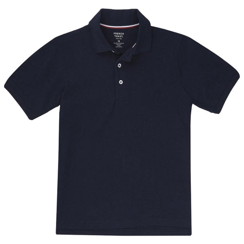 Short Sleeve Pique Polo Shirt  - Boys - Navy