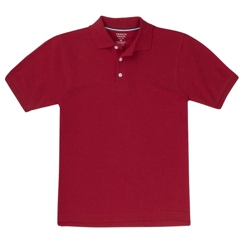 Short Sleeve Pique Polo Shirt  - Boys - Red