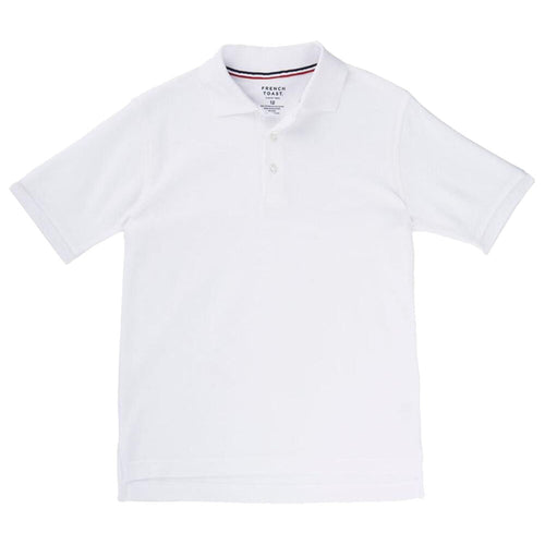 Short Sleeve Pique Polo Shirt  - Boys - White