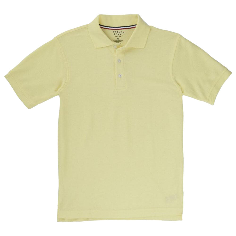 Short Sleeve Pique Polo Shirt Boys Yellow Kids For Less