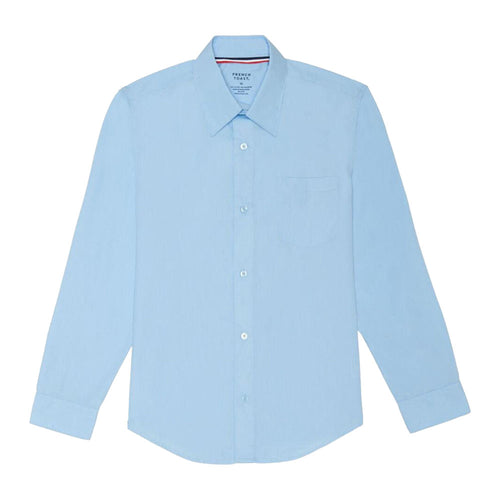 Long Sleeve Broadcloth Dress Shirt - Boys - Light Blue