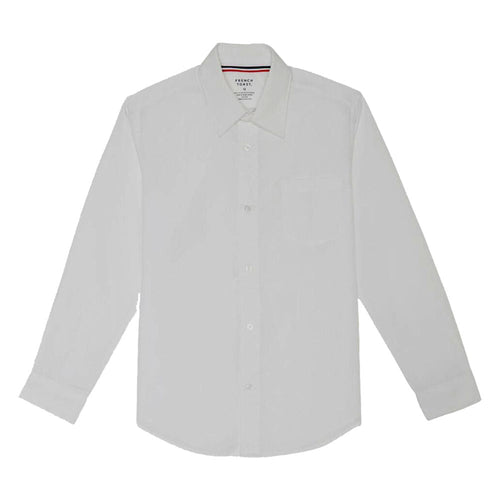 Long Sleeve Broadcloth Dress Shirt - Boys - White