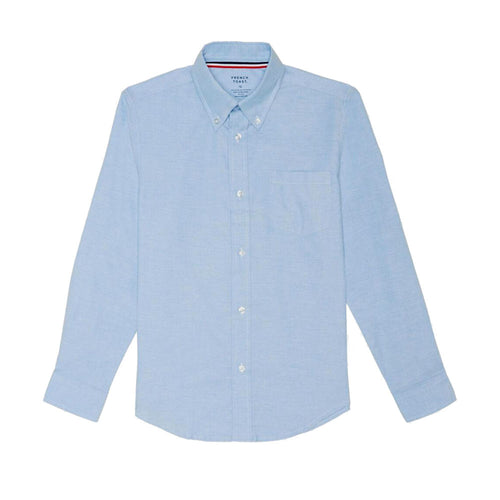 Oxford Long Sleeve Dress Shirt - Boys - Light Blue