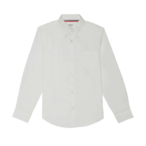 Oxford Long Sleeve Dress Shirt - Boys - White