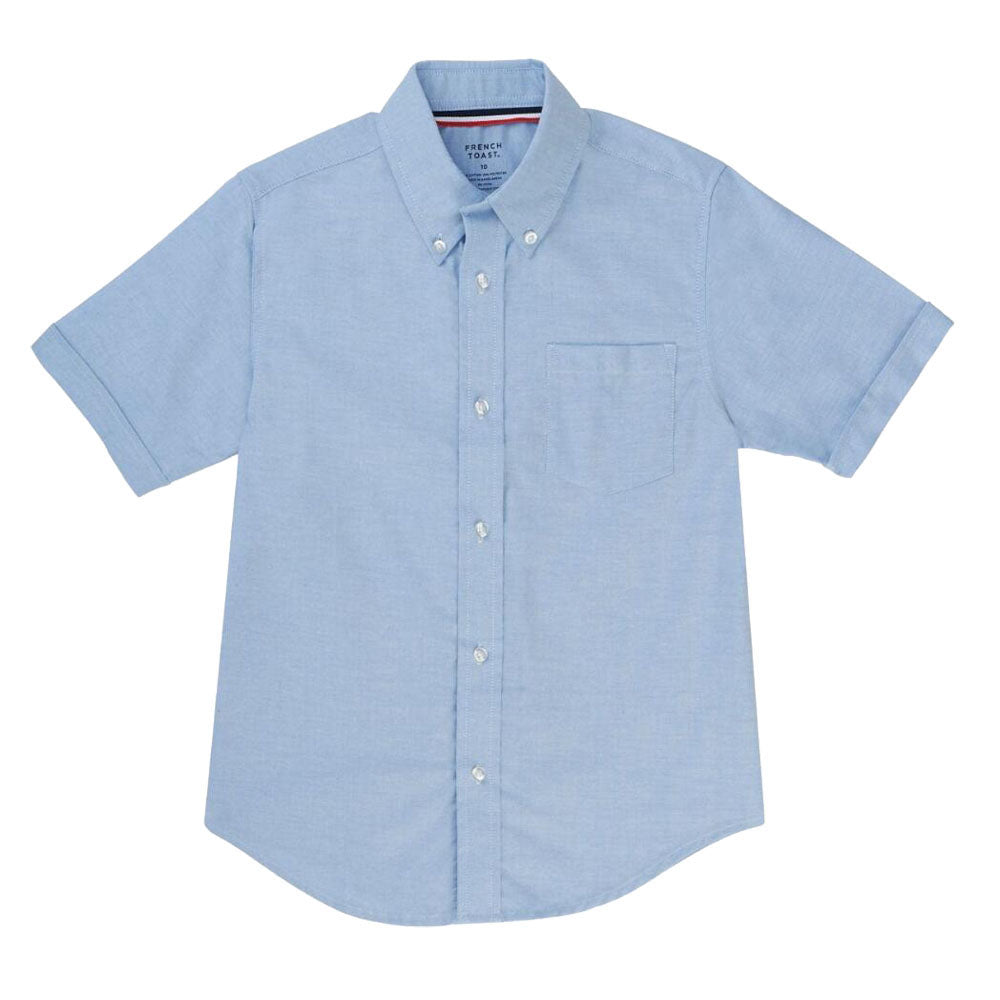 Oxford Short Sleeve Dress Shirt - Boys - Light Blue