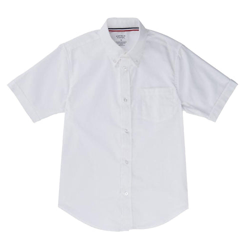 Oxford Short Sleeve Dress Shirt - Boys - White