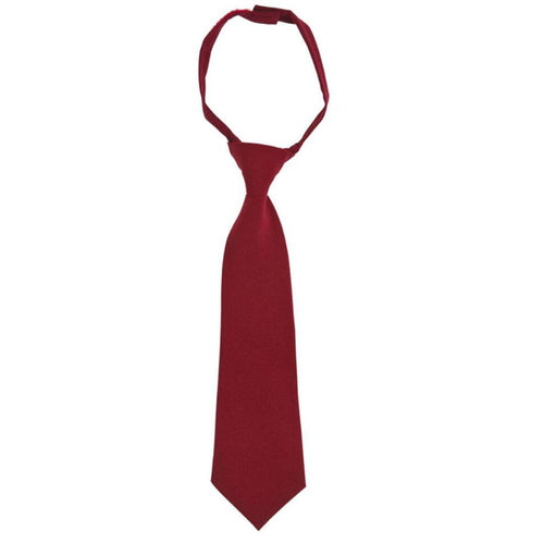 Solid Tie - Boys - Red