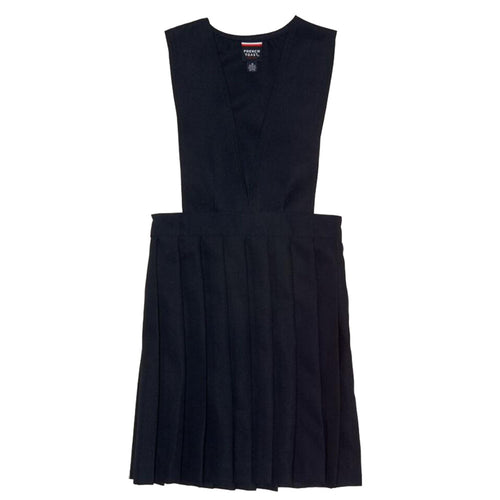 V-Neck Pleated Jumper - Girls - Navy