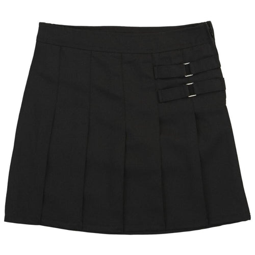 2-Tab Pleated Scooter - Girls - Black