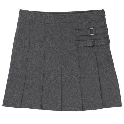 2-Tab Pleated Scooter - Girls - Grey