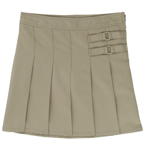 2-Tab Pleated Scooter - Girls - Khaki