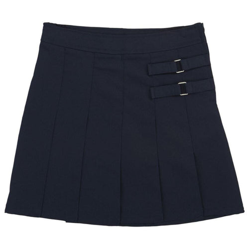 2-Tab Pleated Scooter - Girls - Navy