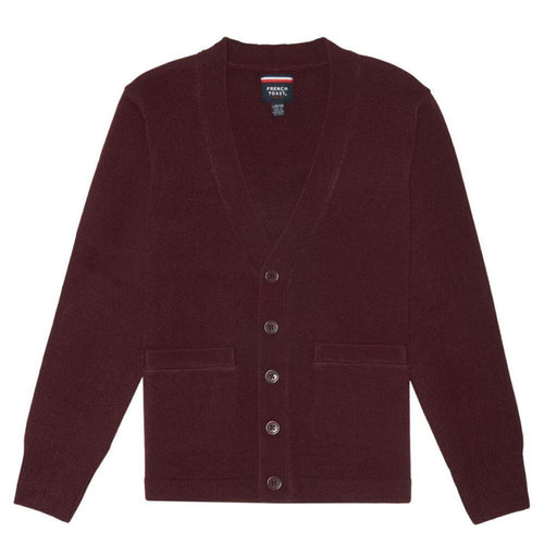 V-Neck Cardigan - Boys - Burgundy