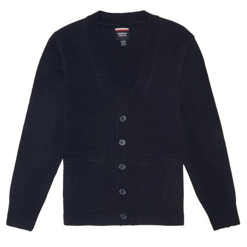 V-Neck Cardigan - Boys - Navy
