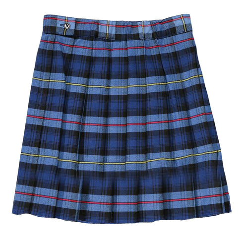 Pleated Plaid Skirt - Girls - Light Blue