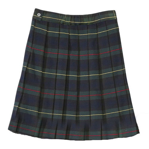 Pleated Plaid Skirt - Girls - Hunter