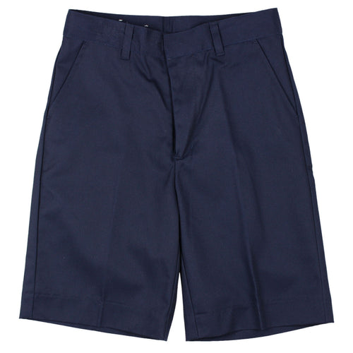 Flat Front Short - Boys - Navy
