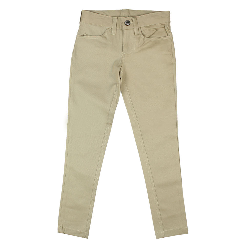 "Basic ""Pencil"" Skinny Pants - Girls - Khaki"